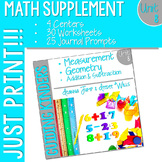 Kindergarten Math: Homework Unit 8