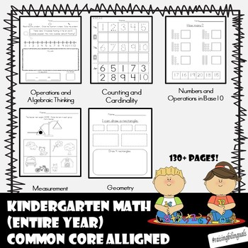 Kindergarten Math for the Entire year! (Common Core alligned)