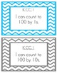 Kindergarten Math I can Statements (Chevron Border)