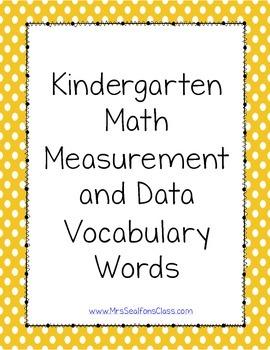 Kindergarten Math Illustrated Vocabulary Cards Measurement