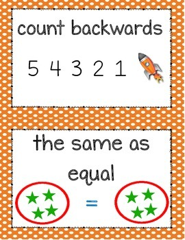 Kindergarten Math Illustrated Vocabulary Cards for Numbers to 20
