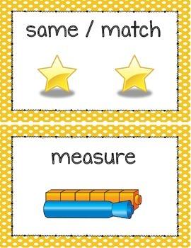 Kindergarten Math Illustrated Vocabulary Set- 89 Cards!
