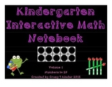 Interactive Notebook- Kindergarten Math, Volume 1