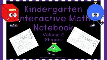 Interactive Notebook-Kindergarten Math, Volume 2