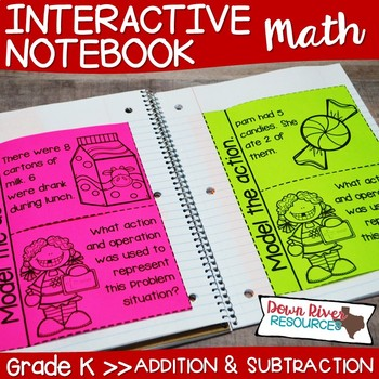 Kindergarten Math Interactive Notebook: Addition and Subtraction to 10 (TEKS)