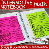 Kindergarten Math Interactive Notebook: Addition and Subtr