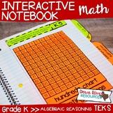 Kindergarten Math Interactive Notebook: Algebraic Reasoning (TEKS)
