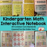 Kindergarten Math Interactive Notebook ~Printable or Digital for Remote Learning