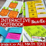 Kindergarten Math Interactive Notebook Bundle- All TEKS Standards