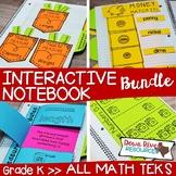 Kindergarten Math Interactive Notebook Bundle- All TEKS Standards