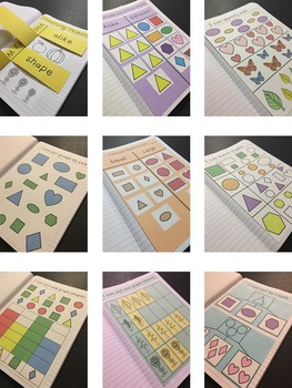 Kindergarten Math Interactive Notebook ~ Classifying Objects
