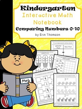 Kindergarten Math Interactive Notebook ~ Comparing Numbers 0-10