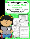 Kindergarten Math Interactive Notebook ~ Composing and Decomposing Numbers 11-20