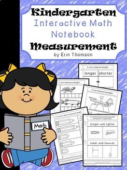 Kindergarten Math Interactive Notebook ~ Measurement