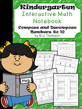 Kindergarten Math Interactive Notebook ~ Composing and Decomposing Numbers to 10