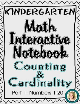 Kindergarten Math Interactive Notebook- Counting & Cardinality Part 1