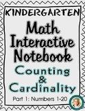 Kindergarten Math Interactive Notebook- Counting & Cardina