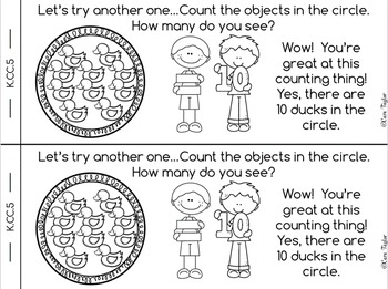 Kindergarten Math Interactive Notebook ~ Counting and Cardinality Bundle