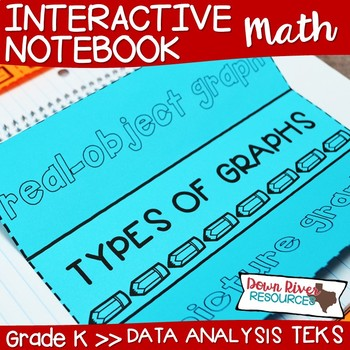 Kindergarten Math Interactive Notebook: Data Analysis- Graphing (TEKS)