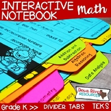 Kindergarten Math Interactive Notebook: Divider Tabs for O