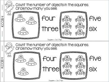 Kindergarten Math Interactive Notebook ~ Emergent Reader Style K.CC.B.4