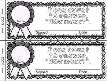 Kindergarten Math Interactive Notebook ~ Emergent Reader Style K.CC.B.5