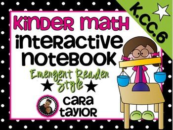 Kindergarten Math Interactive Notebook ~ Emergent Reader Style K.CC.C.6
