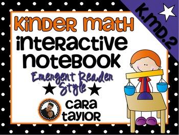 Kindergarten Math Interactive Notebook ~ Emergent Reader Style K.MD.2