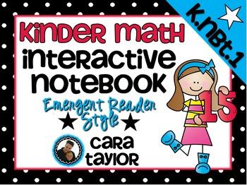 Kindergarten Math Interactive Notebook ~ Emergent Reader Style K.NBT.1