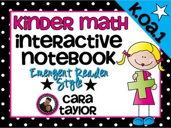 Kindergarten Math Interactive Notebook ~ Emergent Reader Style K.OA.1