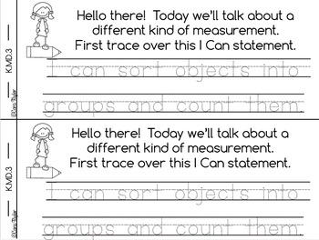 Kindergarten Math Interactive Notebook Measurement and Data K.MD.3