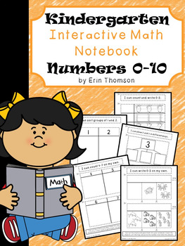 Kindergarten Math Interactive Notebook ~ Numbers 0-10