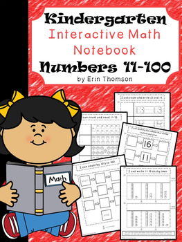 Kindergarten Math Interactive Notebook ~ Numbers 11-100