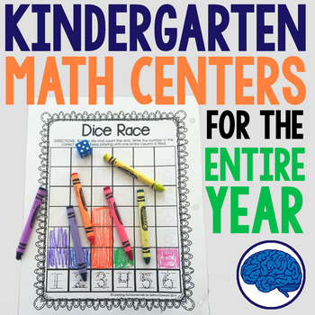 Kindergarten Math - Interactive Notebook, Projects, Centers, Printables