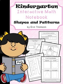 Kindergarten Math Interactive Notebook ~ Shapes and Patterns