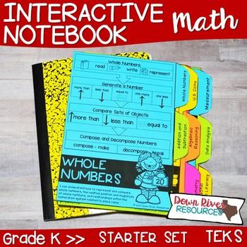 Kindergarten Math Interactive Notebook: Starter Set + Divider Tabs ...