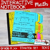 Kindergarten Math Interactive Notebook: Starter Set + Divi