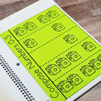 Kindergarten Math Interactive Notebook: Whole Numbers - Numbers to 20 (TEKS)