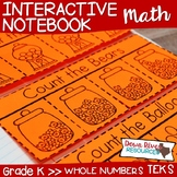 Kindergarten Math Interactive Notebook: Whole Numbers - Nu