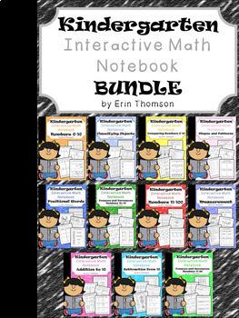 Kindergarten Math ~ Interactive Notebooks Bundle