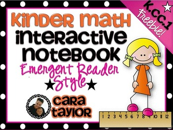 Kindergarten Math Interactive Notebook ~ Emergent Reader Style