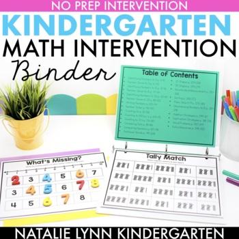 Kindergarten Math Intervention Binder