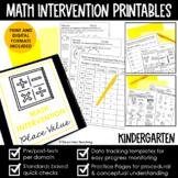 Kindergarten Math Intervention Binder | A YEARLONG RTI PROGRAM BUNDLE