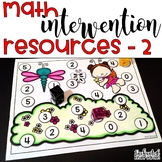 Kindergarten Math Intervention - Set 2