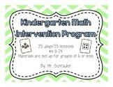 Kindergarten Math Intervention Resource