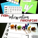 Kindergarten Math Intervention - Set 3