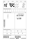 Kindergarten Math Investigations End of Unit 2 Assessment