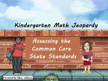 Kindergarten Math Jeopardy Aligned CCSS ~ PROMETHEAN FLIPCHART INTERACTIVE GAME