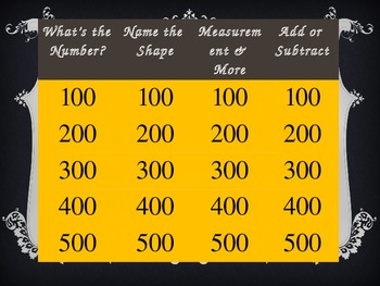 Kindergarten Math Jeopardy ~ CCSS PowerPoint Halloween Flipchart Party Game