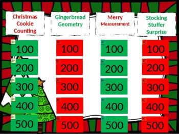 kindergarten math jeopardy game ccss prometheanclassflow christmas holiday - Christmas Jeopardy Game